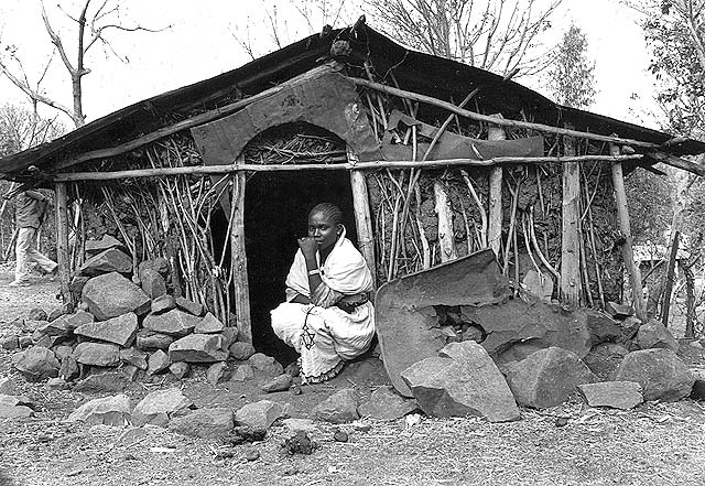 "Jewish woman in ""beit nidda"", Wallaka, Ethiopia. 1984. Oster center, Beit hatfutsot."