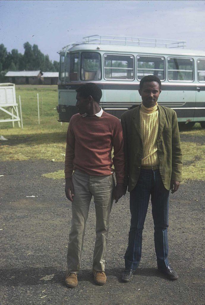 Kassie Chole and Esayas Chane. Gondar, Ethiopia. 1971. Courtesy of Ilan de beer.